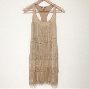 MUSE | Beige Flapper Style Dress Size 2
